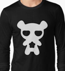 Lazy Bear Black and White Long Sleeve T-Shirt