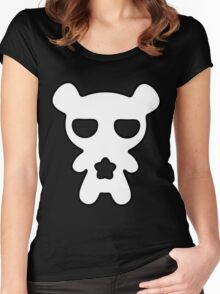 Lazy Bear Black and White Women's Fitted Scoop T-Shirt