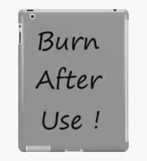 Burn After Use Grey iPad-Hülle & Klebefolie