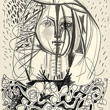 FRANCOISE: Jahrgang 1946 Skeych von Picasso Print von posterbobs
