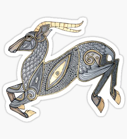 Leaping Impala Tee Sticker
