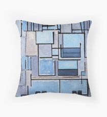 Piet Mondrian - Composition No 9 Blue Facade Dekokissen