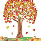 Stilisierter Herbstbaum von CarolineLembke