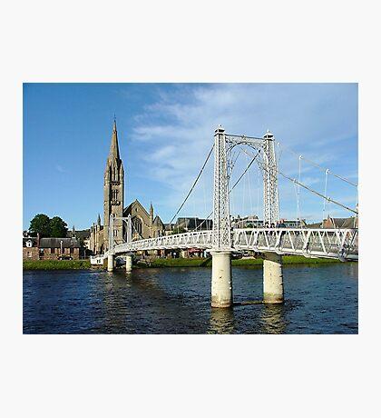 Infirmary Bridge, Inverness, Scotland. Photographic Print