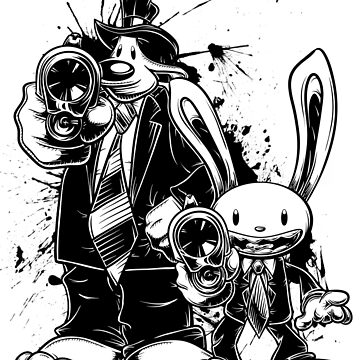 Sam & Max X Pulp Fiction (black) by crula
