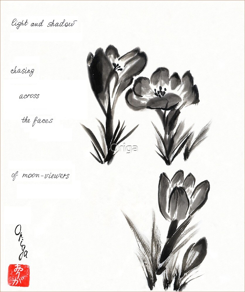 Crocuses. Haiga. by Origa