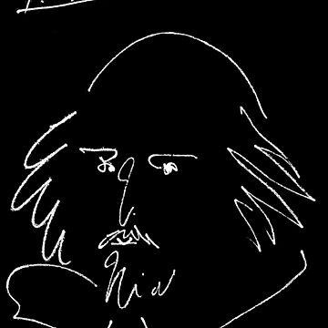 WILLIAM SHAKESPEARE: Vintage 1946 Silhouette Print von PICASSO von posterbobs