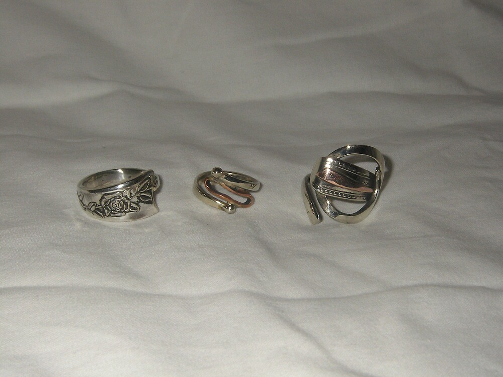 Rings from recycled materials by Brian Cox