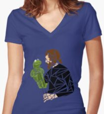 The Muppet Master Women's Fitted V-Neck T-Shirt