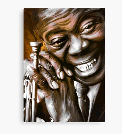 LOUIS ARMSTRONG.  Canvas Print