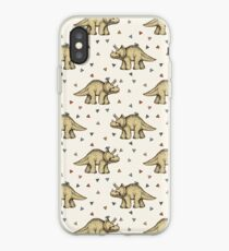 Triceratops & Triangles iPhone Case