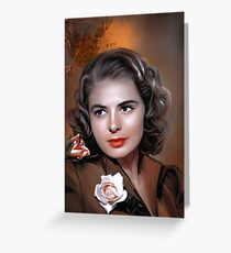 Ingrid Bergman Greeting Card