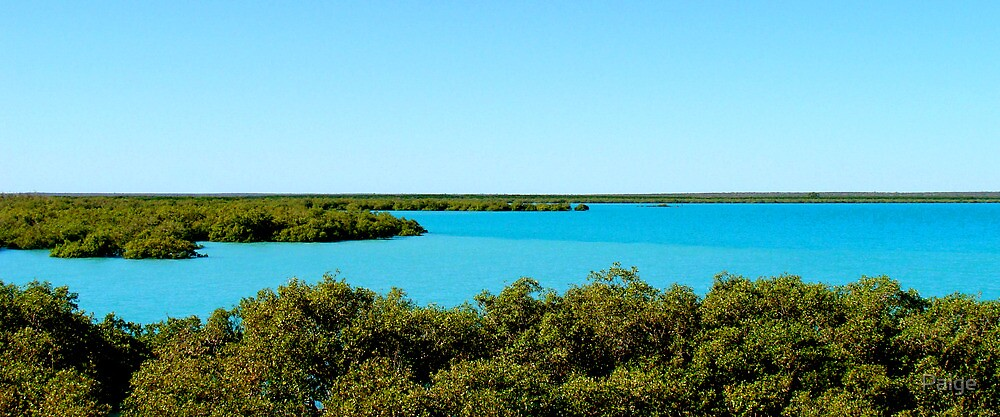 Turquoise waters by Paige