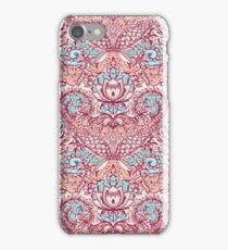 Natural Rhythm - a hand drawn pattern in peach, mint & aqua iPhone Case/Skin