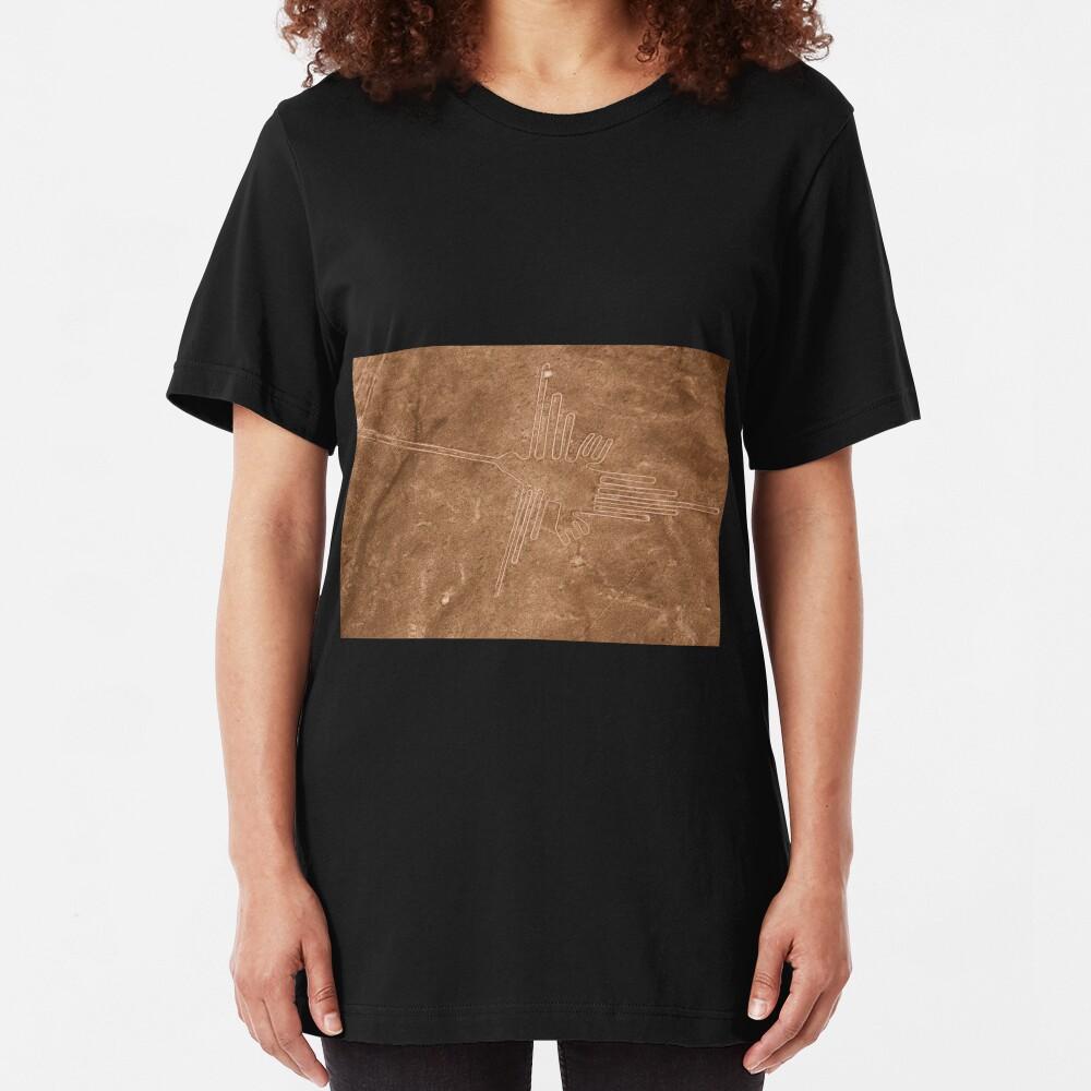 Colibri (Hummingbird), Nazca Lines, Peru Slim Fit T-Shirt