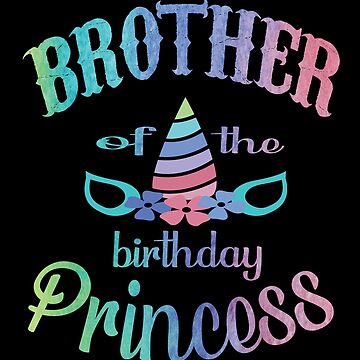 Brother Of The Birthday Princess Unicorn Shirt - Party Gift by Grabitees