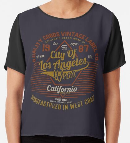 Copy of New York Vintage Hand Lettering College Design Chiffon Top