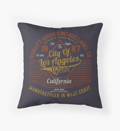 Copy of New York Vintage Hand Lettering College Design Throw Pillow