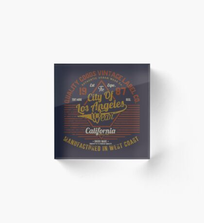 Copy of New York Vintage Hand Lettering College Design Acrylic Block