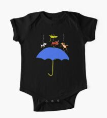 Raining Cats and DOGS (blue) T SHIRT/STICKER One Piece - Short Sleeve