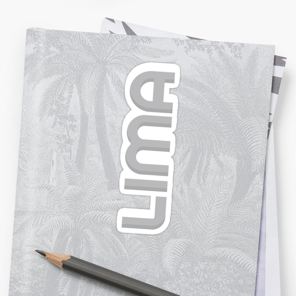 Lima Vertical Text Sticker