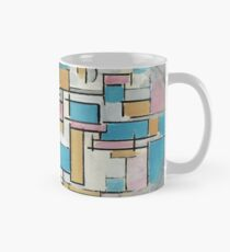 Piet Mondrian - Composition in Oval with Color Planes Tasse (Standard)