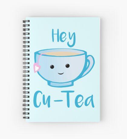 Hey Cu-tea Shirt - Tea Pun Spiral Notebook
