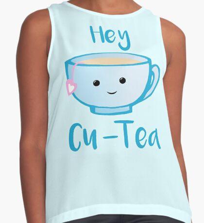 Hey Cu-tea Shirt - Tea Pun Sleeveless Top