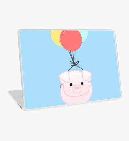 PIG, You make me feel like I can fly - Flying Pig - Pig Puns -Valentines -  Hog Puns - Cute Pig - Pig T Shirt - Fly - Motivation  Laptop Skin