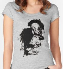 The Lonely Hunter (Ink/Brush Version) Women's Fitted Scoop T-Shirt