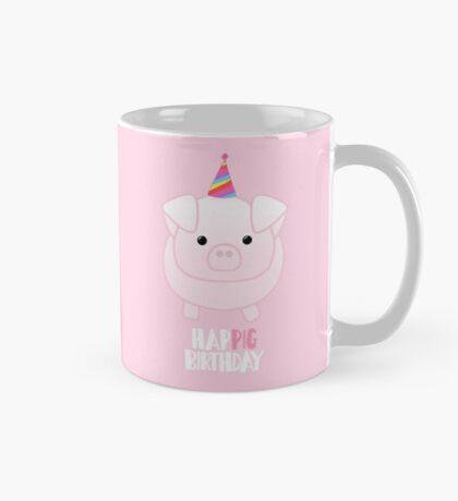 PIG Birthday Shirt - Happig birthday - Pun - Party - Gift - Present - Party Pig - Hog - Cute - Fun  Mug