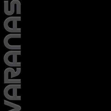 Varanasi Vertical Text by designkitsch