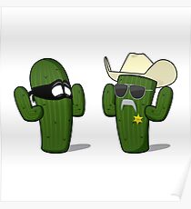 Sheriff Cactus & Robber Poster