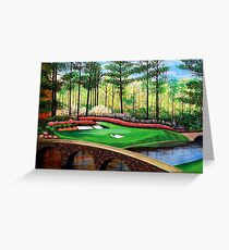 12 AT AUGUSTA Greeting Card
