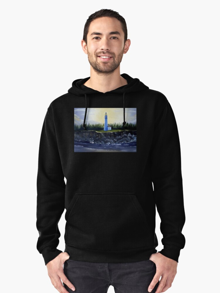 Evening Lighthouse Pullover Hoodie Front