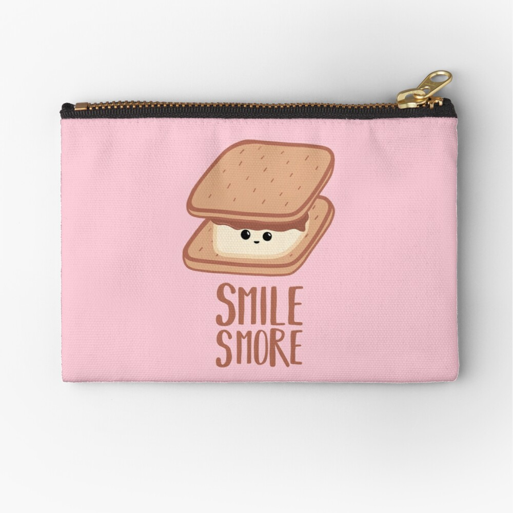 SMORE - SMILE T Shirt - Smores - Design Gifts Zipper Pouch