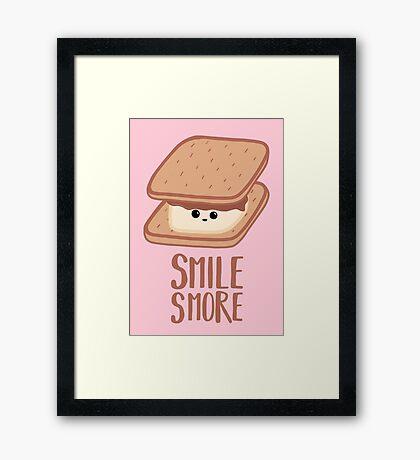 SMORE - SMILE T Shirt - Smores - Design Gifts Framed Print