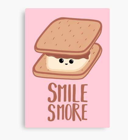 SMORE - SMILE T Shirt - Smores - Design Gifts Canvas Print