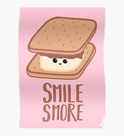 SMORE - SMILE T Shirt - Smores - Design Gifts Poster