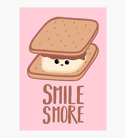 SMORE - SMILE T Shirt - Smores - Design Gifts Photographic Print
