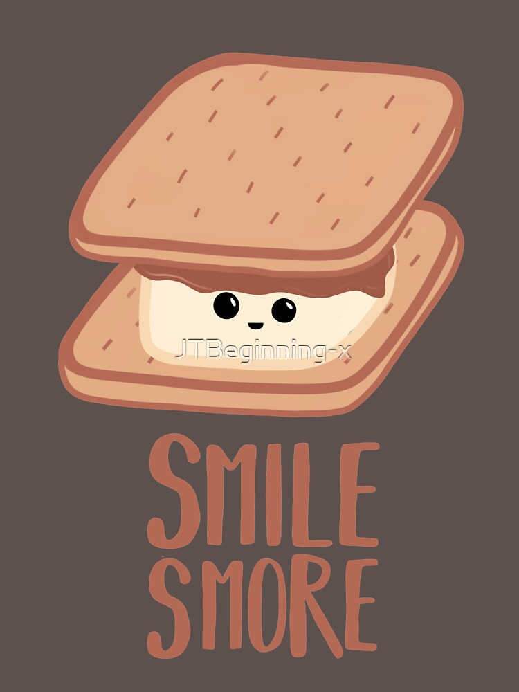 SMORE - SMILE T Shirt - Smores - Design Gifts by JTBeginning-x