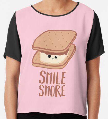 SMORE - SMILE T Shirt - Smores - Design Gifts Chiffon Top
