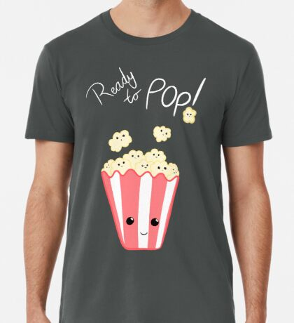 Funny Expecting T Shirt - Ready to Pop - Funny Pregnant - Pregnancy - Baby Shower - Gift - Popcorn Pun - Funny expectant mom mum Premium T-Shirt