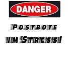 Postman in stress humor by DiversiumArts