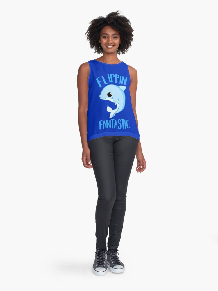 Alternate view of Dolphin - FLIPPING FANTASTIC Sleeveless Top