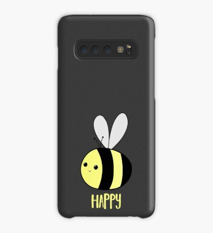 BEE Happy - Bee Pun  Case/Skin for Samsung Galaxy