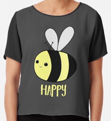 BEE Happy - Bee Pun  Chiffon Top