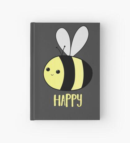 BEE Happy - Bee Pun  Hardcover Journal