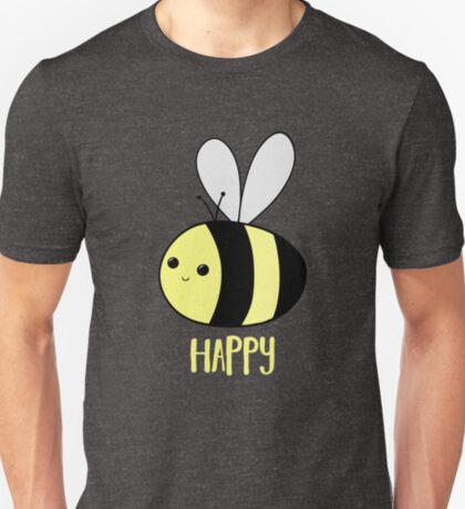 BEE Happy - Bee Pun  T-Shirt