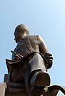 Ivor Novello statue, Cardiff Bay, Wales, UK by David Carton
